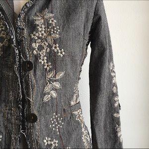 Vintage Embroidered Blazer